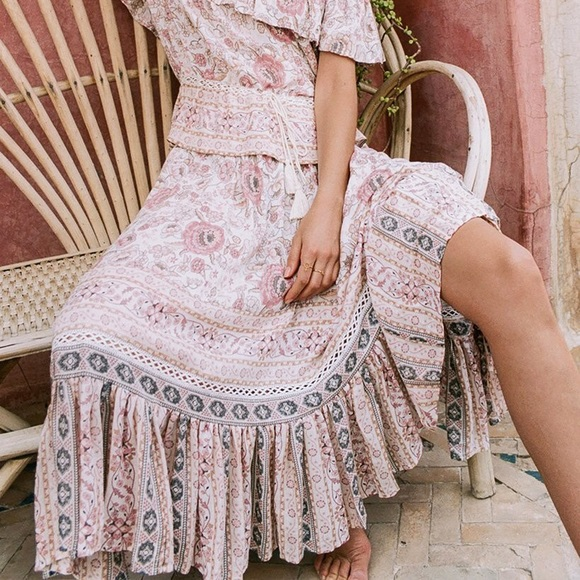 c6b309678 Spell & The Gypsy Collective Skirts | Spell Gypsy Zahara Midi Skirt ...
